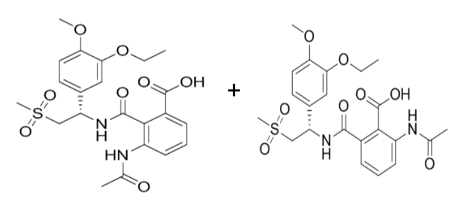 Apremilast mixture Of 3-acetamido + 2-acetamido (30% + 65%)